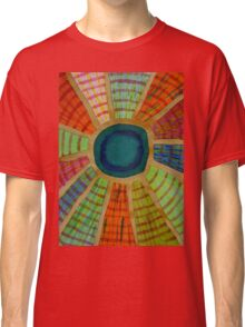 Blue radiating Sun  Classic T-Shirt