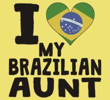 I Heart My Brazilian Aunt Kids Tee