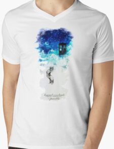 Beyond the clouds Mens V-Neck T-Shirt