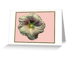 Hollyhock Flower Abstract Greeting Card