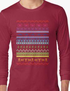Hipster patterns Long Sleeve T-Shirt