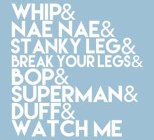 Watch Me | Whip and Nae Nae Typography Kids Clothes