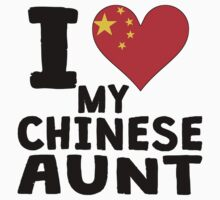 I Heart My Chinese Aunt Kids Tee