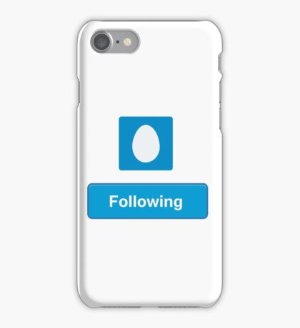 Following twitter iPhone Case/Skin