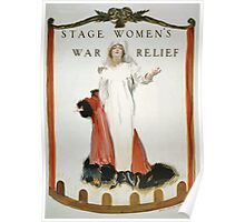 Stage womens war relief 002 Poster