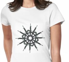 Radial Gunflake Womens Fitted T-Shirt