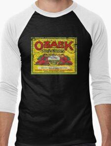 ozark strawberries Men's Baseball ¾ T-Shirt