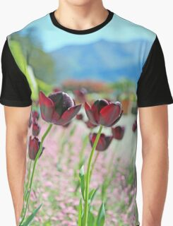 Red Burgundy Wine Tulips Graphic T-Shirt