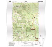 USGS Topo Map Washington State WA Winchester Peak 244740 1992 24000 Poster