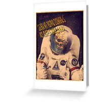 Astro Zombie Greeting Card