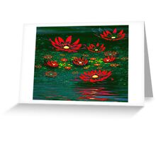 Flowers by the Pond Greeting Card
