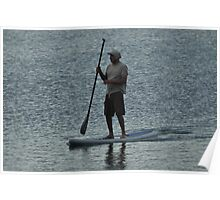 Man on a Paddle Board Poster