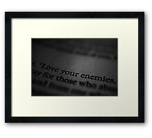 Hardest Truth in Bible? Framed Print