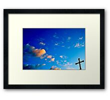 Cross in Creation Framed Print