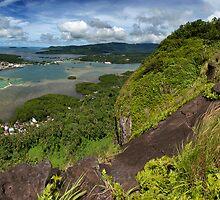 Sokehs Rock Panoramic - Pohnpei, Micronesia by Alex Zuccarelli