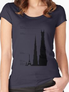 Towering Sauron Women's Fitted Scoop T-Shirt