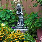 Backyard Garden Scene Summer 2012 by Sandra Foster