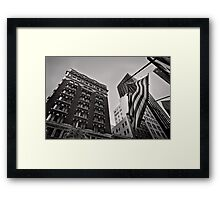 The architecture of Stars and Stripes - San Francisco, USA Framed Print