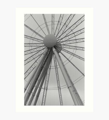 Seattle Great Wheel Art Print