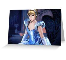 Princess in blue dress Greeting Card