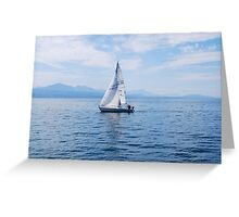 Boating on Lake Leman Greeting Card