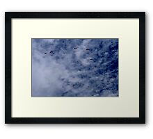 Para gliders in the sky Framed Print