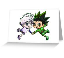 Hunter x Hunter Killua and Gon Greeting Card
