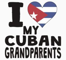 I Heart My Cuban Grandparents Kids Clothes