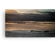 Paddle in the Rough Canvas Print