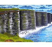 Cliffs of Moher, County Clare, Ireland, view from tourist lookout Photographic Print