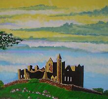 The Rock of Cashel, County Tipperary, Ireland, a romantic view by Samuel Ruth