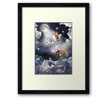 Shoot For The Moon (Giraffe In The Clouds) Framed Print