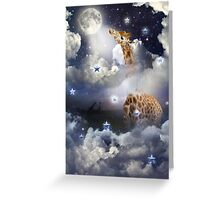 Shoot For The Moon (Giraffe In The Clouds) Greeting Card