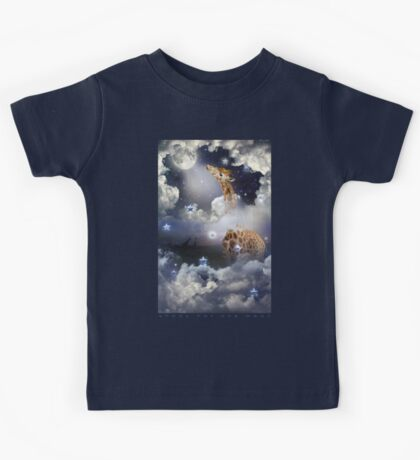 Shoot For The Moon (Giraffe In The Clouds) Kids Tee