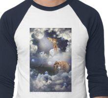 Shoot For The Moon (Giraffe In The Clouds) Men's Baseball ¾ T-Shirt