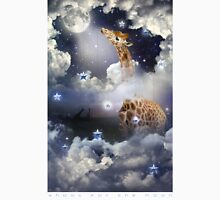 Shoot For The Moon (Giraffe In The Clouds) Men's Baseball ¾ T-Shirt