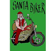 Santa biker Photographic Print