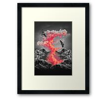 Burn Brighter In the Dark  Framed Print