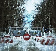 Stop Sign. Grunge by Sergey Kireev