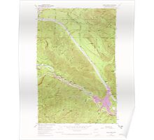 USGS Topo Map Washington State WA Eagle Gorge 240917 1953 24000 Poster