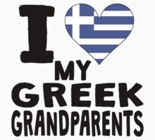 I Heart My Greek Grandparents One Piece - Short Sleeve