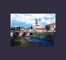 Beautiful italian landscape, hand painted T-Shirt