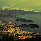 Beautiful Queenstown At Dusk. South Island, New Zealand. by Ralph de Zilva