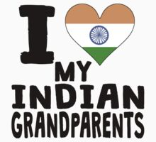I Heart My Indian Grandparents Baby Tee