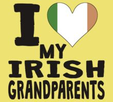 I Heart My Irish Grandparents One Piece - Short Sleeve