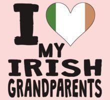 I Heart My Irish Grandparents One Piece - Long Sleeve