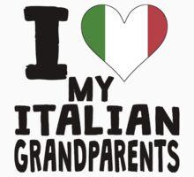 I Heart My Italian Grandparents Kids Tee