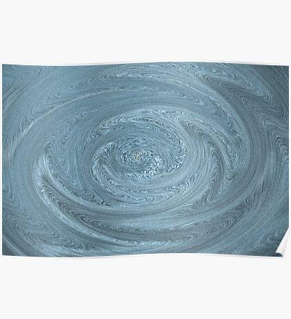 Digital Textured Swirl Art Poster