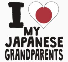 I Heart My Japanese Grandparents Kids Tee