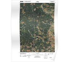 USGS Topo Map Washington State WA Boistfort 20110406 TM Poster